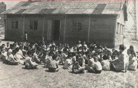 Imagen del barracón en el que se ubicaba Ton i Guida