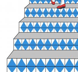 Inés, escalera arriba, escalera abajo