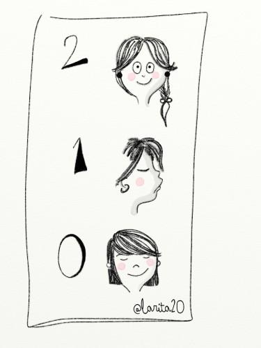 Se observan tres chicas una, con coletas, lleva dos pendientes, a otra, de perfil solo se le ve uno, la tercera -con flequillo- no lleva.