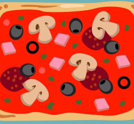 Partiendo pizza