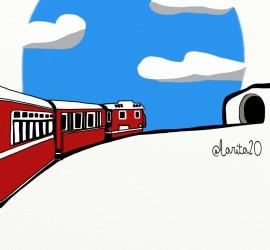 un tren va a entrar en un tunel y no va a pasar nada grave