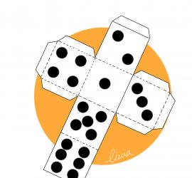 Las seis caras de un dado