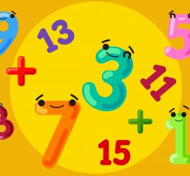 nueve números impares hechos todos con cifras impares