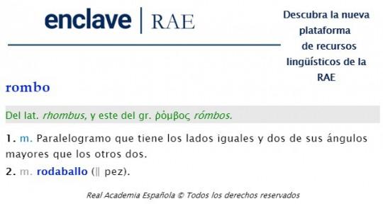 definición RAE rombo
